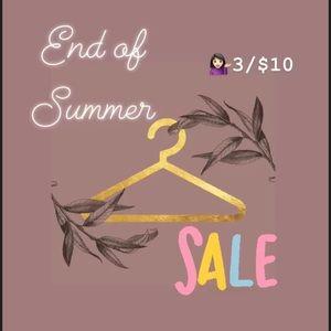 💁🏻♀️🙀 3/10$ Sale Bye Bye Summer!